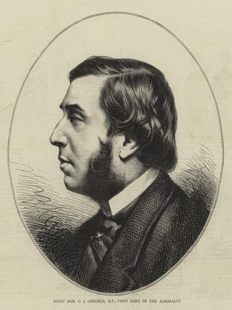 Right Honourable G J Goschen, Mp, First Lord of the Admiralty