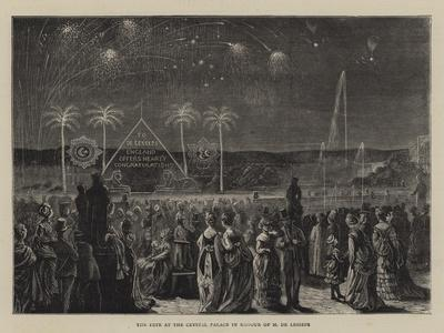 The Fete at the Crystal Palace in Honour of M De Lesseps