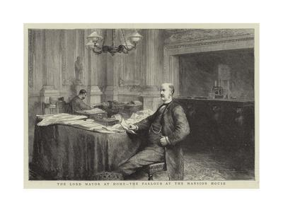 The Lord Mayor at Home, the Parlour at the Mansion House