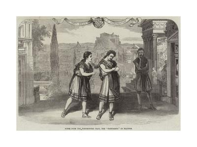 Scene from the Westminster Play, the Trinummus of Plautus