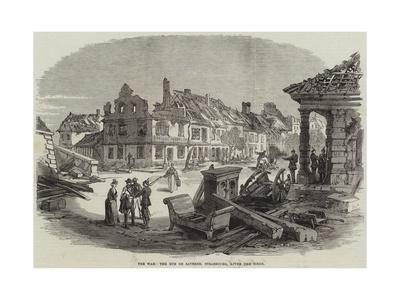 The War, the Rue De Saverne, Strasbourg, after the Siege
