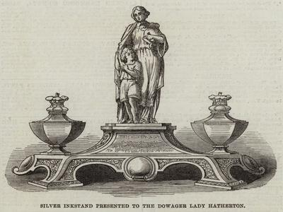 Silver Inkstand Presented to the Dowager Lady Hatherton