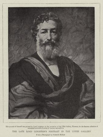 The Late Lord Leighton's Portrait in the Uffizi Gallery