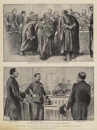 The Trial of Captain Dreyfus at Rennes, Sketches in Court
