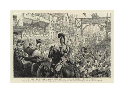 After the Wedding, 10 February 1840, Driving to Windsor
