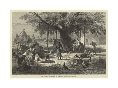 The Evening Encampment of European Travellers, Rajpoor