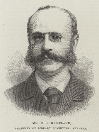 Mr E S Hartland, Chairman of Library Committee, Swansea