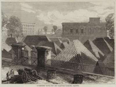 Government House Fort and Dalhousie Barracks, Calcutta