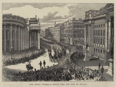 Lord Mayo's Funeral, a Sketch Near the Bank of Ireland