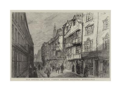 Old Houses in Wych Street, London, Recently Demolished