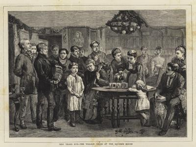 New Year's Eve, the Village Choir at the Squire's House