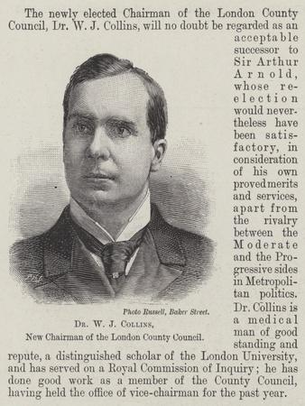 Dr W J Collins, New Chairman of the London County Council