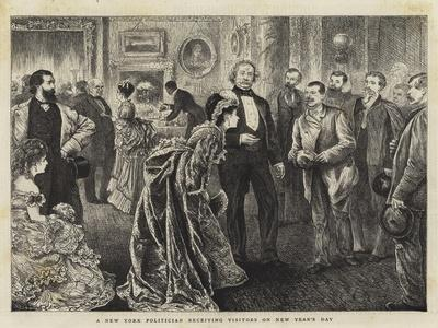 A New York Politician Receiving Visitors on New Year's Day