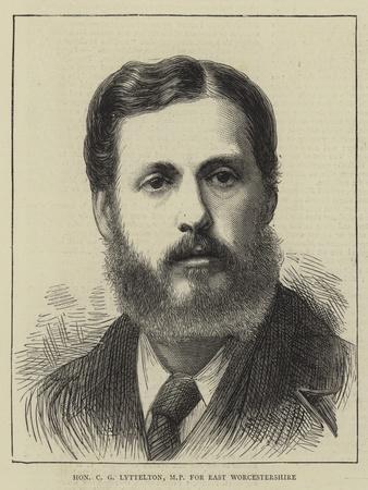 Honourable C G Lyttelton, Mp for East Worcestershire