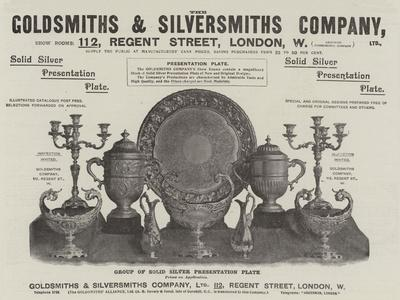 Advertisement, Goldsmiths and Silversmiths Company