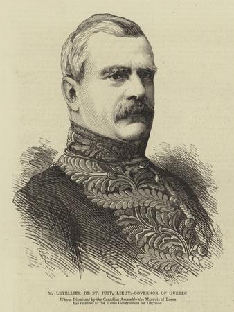 M Letellier De St Just, Lieutenant-Governor of Quebec
