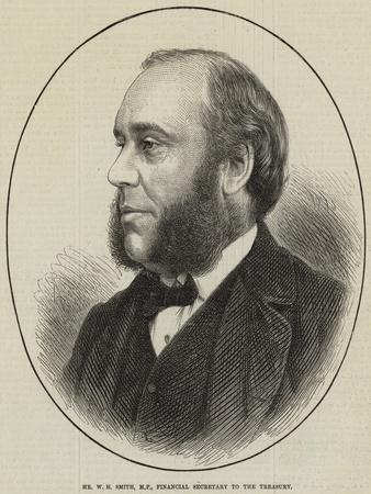 Mr W H Smith, Mp, Financial Secretary to the Treasury