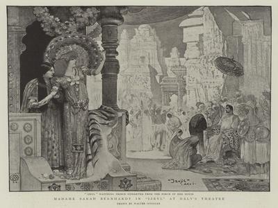 Madame Sarah Bernhardt in Izeyl at Daly's Theatre