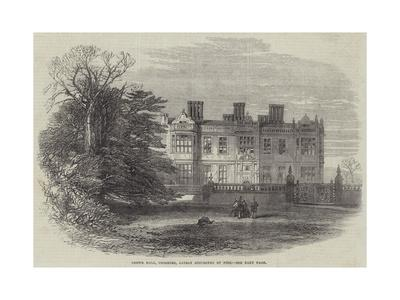 Crewe Hall, Cheshire, Lately Destroyed by Fire