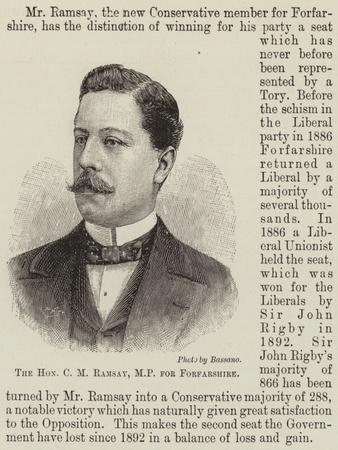 The Honourable C M Ramsay, Mp for Forfarshire