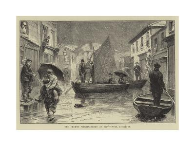The Recent Floods, Scene at Northwich, Cheshire