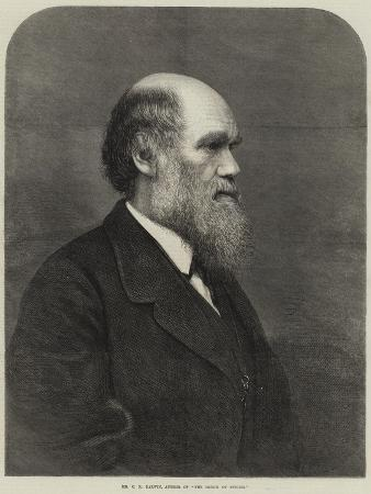 Mr C R Darwin, Author of The Origin of Species