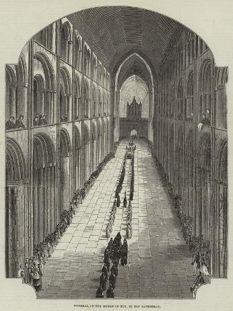 Funeral of the Bishop of Ely, in Ely Cathedral