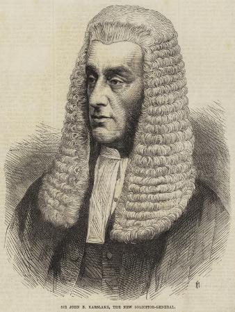 Sir John B Karslake, the New Solicitor-General