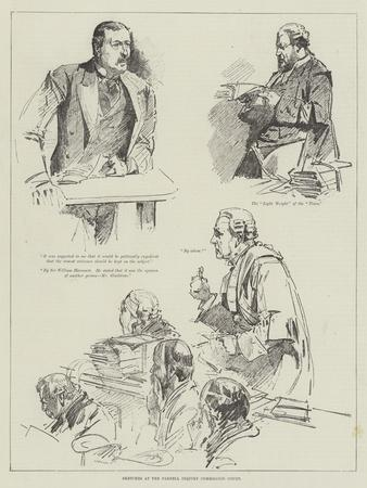 Sketches at the Parnell Inquiry Commission Court