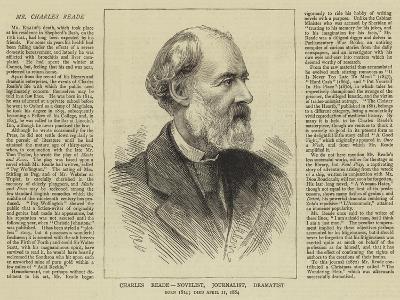 Charles Reade, Novelist, Journalist, Dramatist