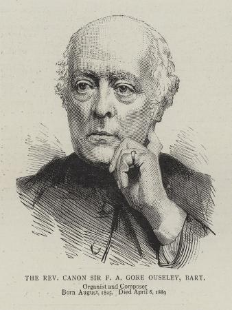 The Reverend Canon Sir F a Gore Ouseley, Baronet