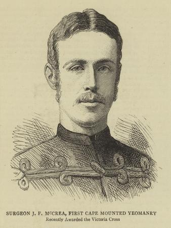 Surgeon J F Mccrea, First Cape Mounted Yeomanry