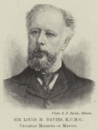 Sir Louis H Davies, Canadian Minister of Marine