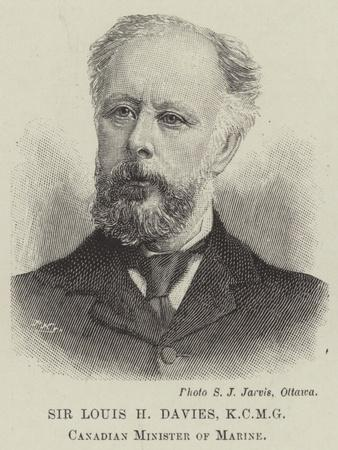 Sir Louis H Davies, Canadian Minister of Marine