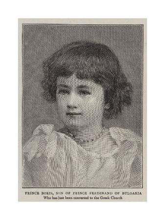 Prince Boris, Son of Prince Ferdinand of Bulgaria