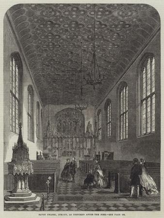 Savoy Chapel, Strand, as Restored after the Fire