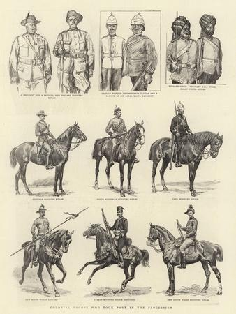Colonial Troops Who Took Part in the Procession