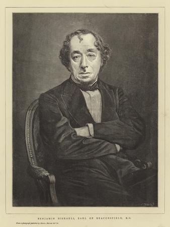 Benjamin Disraeli, Earl of Beaconsfield, Kg
