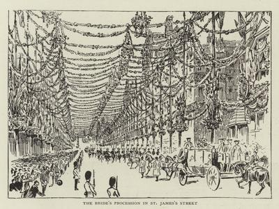 The Bride's Procession in St James's Street