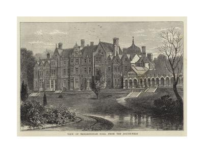 View of Sandringham Hall from the South-West
