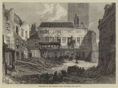 Demolition of the Saracen's Head, Snow-Hill