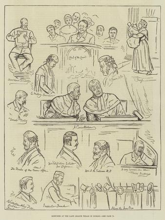 Sketches at the Land League Trials in Dublin