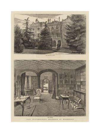 Earl Beaconsfield's Residence at Hughenden