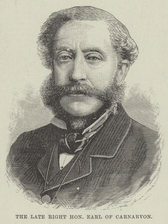 The Late Right Honourable Earl of Carnarvon