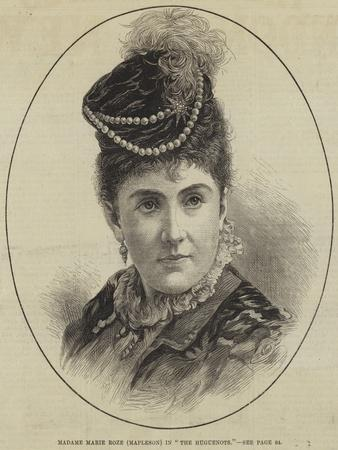 Madame Marie Roze (Mapleson) in The Huguenots
