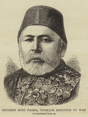 Hussein Avni Pasha, Turkish Minister of War