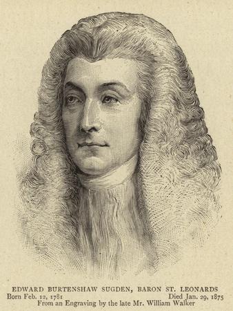 Edward Burtenshaw Sugden, Baron St Leonards