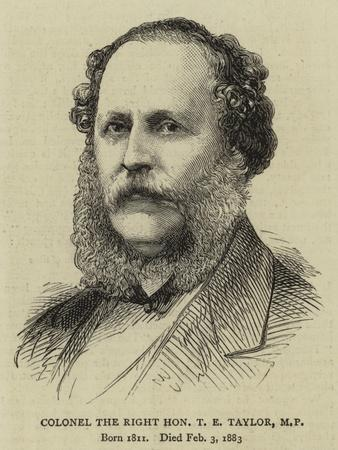 Colonel the Right Honourable T E Taylor