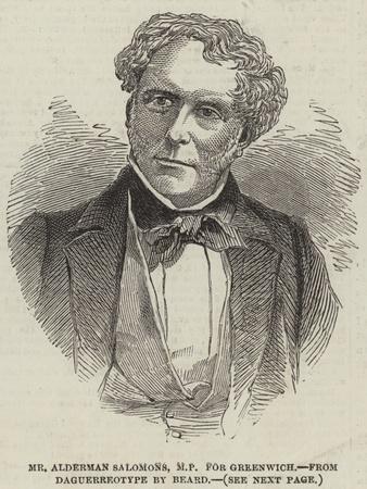 Mr Alderman Salomons, Mp for Greenwich
