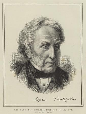 The Late Honourable Stephen Lushington